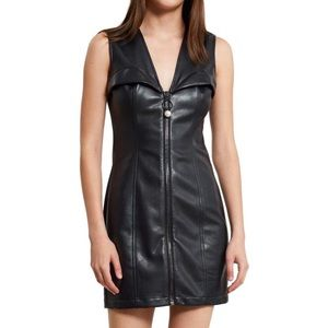 Opening Ceremony faux leather bustier dress size 4